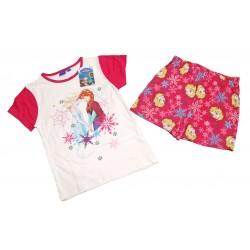 Ensemble pyjama La reine des neiges pour fille fuschia