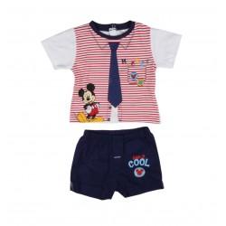 Ensemble deux pièces Mickey bébé garçon rouge