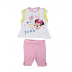 Ensemble deux pièces Minnie bébé fille rose