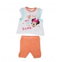 Ensemble deux pièces Minnie bébé fille orange