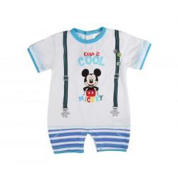 Barboteuse Mickey bébé garçon bleu