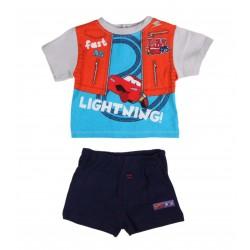 Ensemble deux pièces Disney Cars bébé garçon gris et bleu
