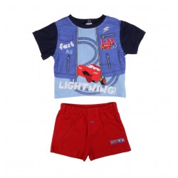 Ensemble deux pièces Disney Cars bébé garçon bleu marine et rouge