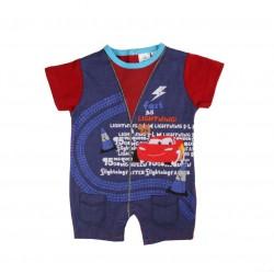 Barboteuse Disney Cars bébé garçon bleu marine 100% coton