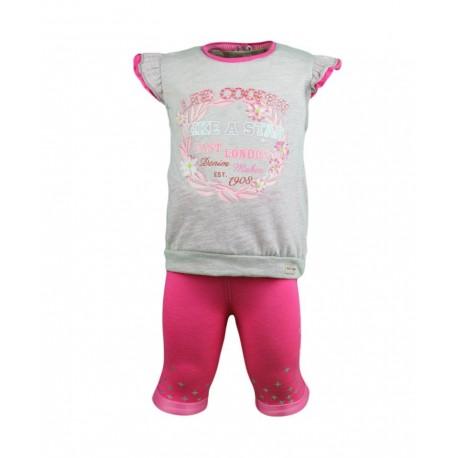 Ensemble deux pièces tee shirt et legging Lee Cooper bébé fille gris