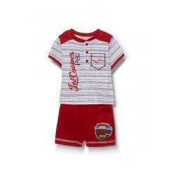 Lee Cooper ensemble deux pièces tee shirt et short bébé garçon rouge