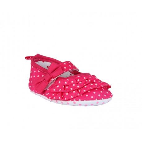 Ballerines à pois bébé fille rose