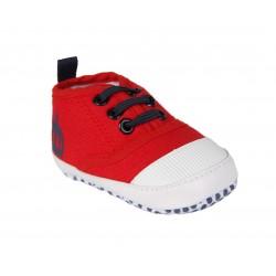 Basket en toile bébé mixte rouge