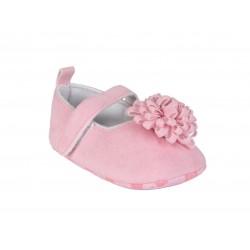 Ballerines avec pompom bébé fille rose