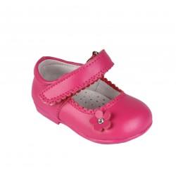 Babies en cuir bébé fille rose fuschia