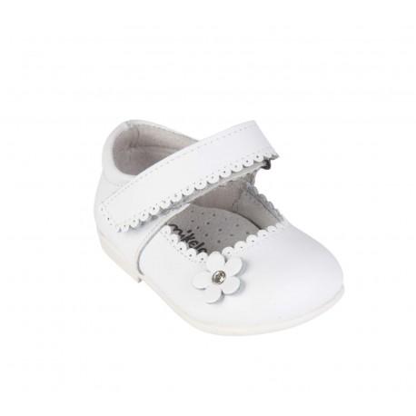 Babies en cuir bébé fille blanc