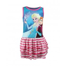 Robe Reine des neiges fille rose