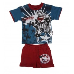 Ensemble Superman t-shirt et short garçon 100% coton bleu