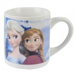 Mug Reine des neiges fille porcelaine blanc et bleu