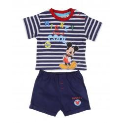 Ensemble Mickey deux pièces t-shirt et short bébé garçon bleu