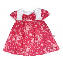 Robe à fleur bébé fille rose