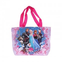 Sac shopping Reine des neiges fille rose