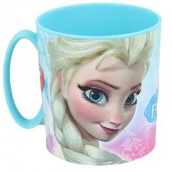 Mug Reine des neiges en plastique fille bleu