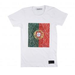 T-shirt logo réversible Portugal enfant mixte blanc