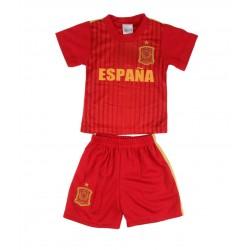 Ensemble maillot et short Espagne garçon rouge