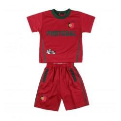 Ensemble maillot et short Portugal garçon rouge
