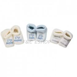 3 paires de chaussons tricot
