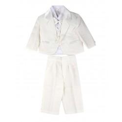 Costume 5 pièces cérémonie bébé garçon beige