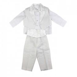 Costume 4 pièces bébé garçon ivoire