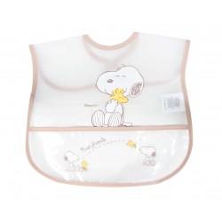 Bavoir Snoopy bébé mixte transparent et marron