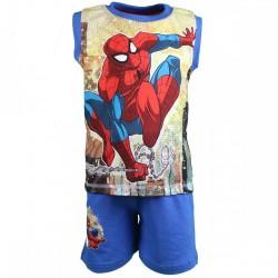 Spiderman - ensemble debardeur et short - garçon - bleu