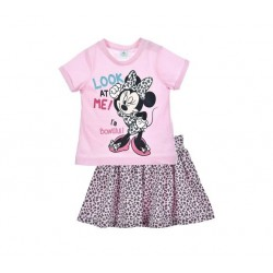 Minnie - ensemble deux pièces tee shirt et jupe - rose