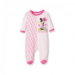 Minnie - grenouillère velours - bébé fille - rose