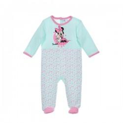 Minnie - grenouillère velours - bébé fille - vert