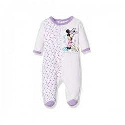 Minnie - grenouillère velours - bébé fille - violet