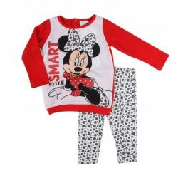 Minnie - ensemble deux pièces pantalon et tee shirt ML - bébé fille - rouge