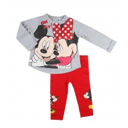 Minnie - ensemble deux pièces pantalon et tee shirt ML - bébé fille - gris