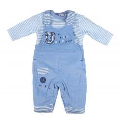 Ensemble deux pièces - bébé garçon - bleu rayé