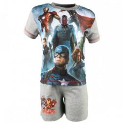 Avengers - ensemble tee shirt et short - garçon - gris