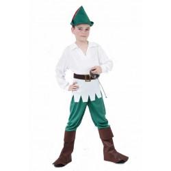 Déguisement enfant des bois - garçon - blanc et vert