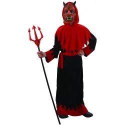 Déguisement diable sinistre - garçon - noire et rouge