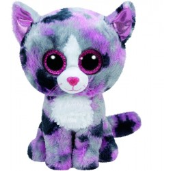Ty - peluche chat - gris et rose - fille