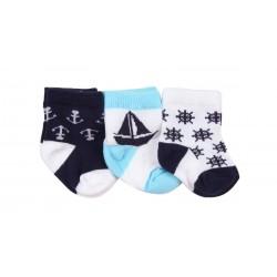 Lot de trois paires de chaussette coton majoritaire - garçon - bleu