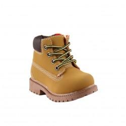 Chaussures montante à lacet et zip - bébé garçon - camel
