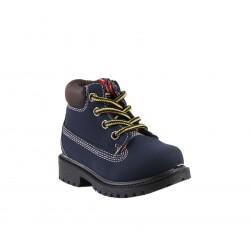 Chaussures montante à lacet et zip - bébé garçon - bleu marine