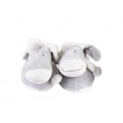 chaussons ane - bébé - gris