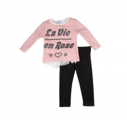La vie en rose - ensemble - rose pailleté