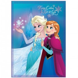 Disney Reine des neiges - plaid 100x140cm - fille - rose