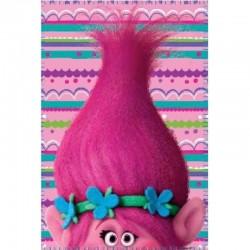 Trolls - plaid 100x140cm - fille - rose