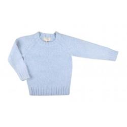 Pull en tricot - fille - bleu