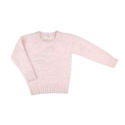 Pull en tricot - fille - rose